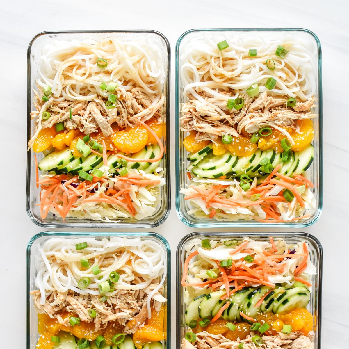 Sesame Chicken Cold Rice Noodle Lunches