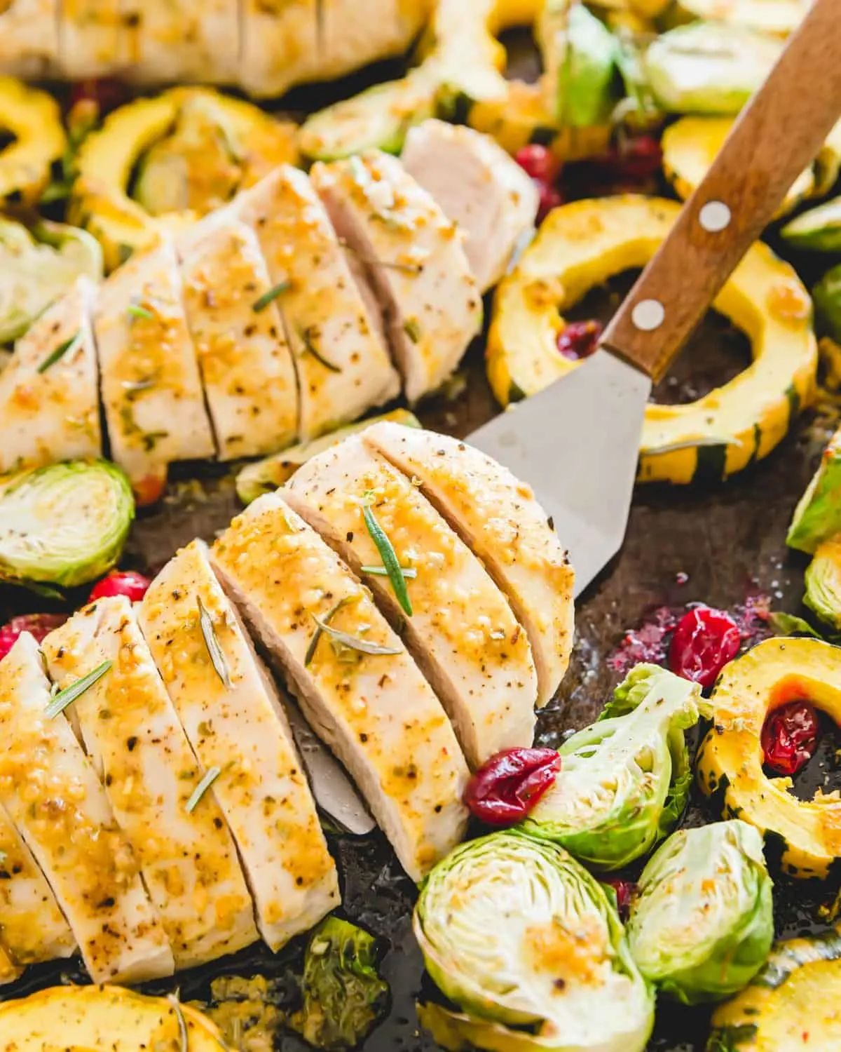 Sheet Pan Maple Mustard Chicken with Fall Vegetables