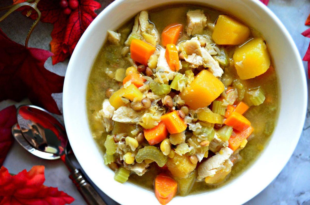 Turkey Butternut Squash & Lentil Soup