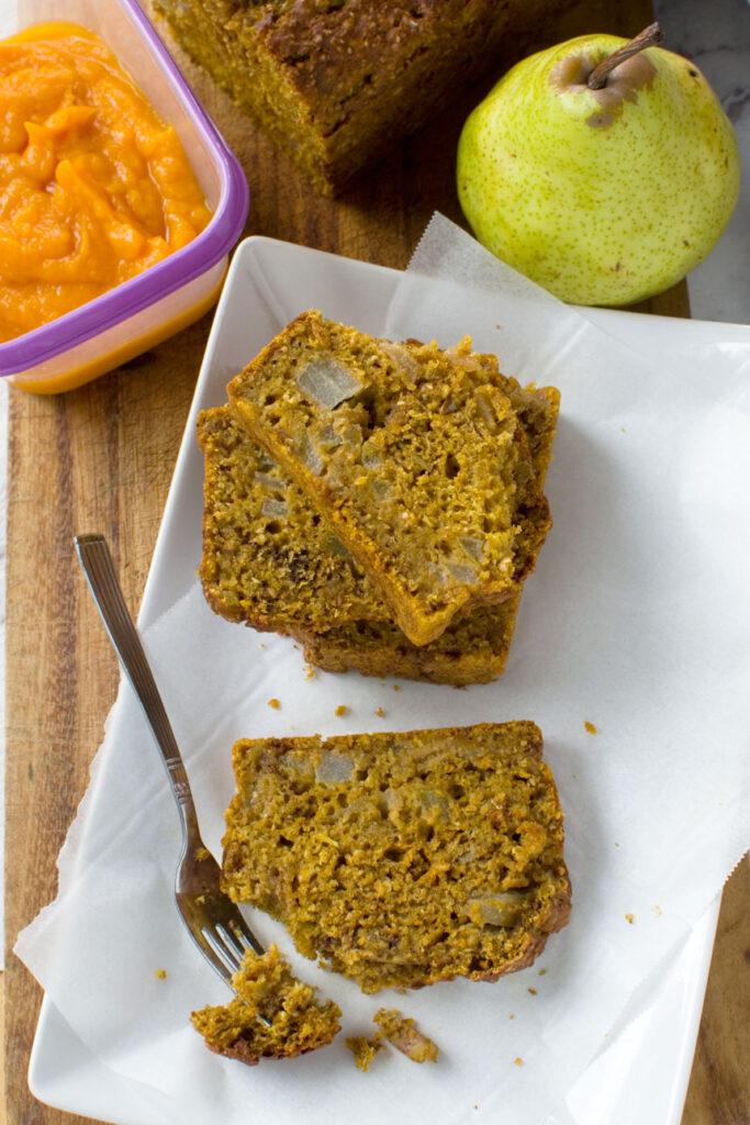 Healthy Pumpkin Pear Loaf Cake