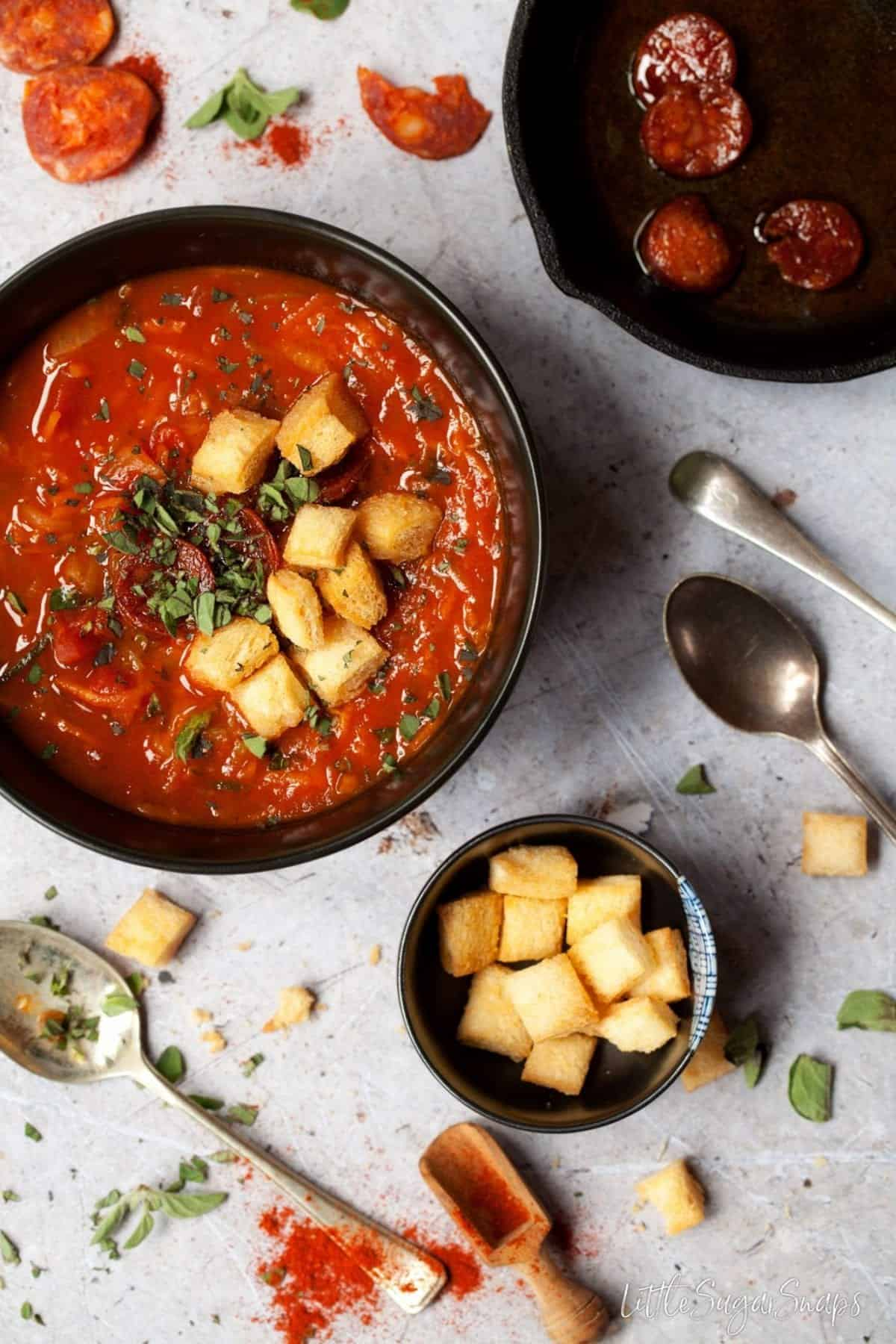 Hearty Carrot & Courgette Soup with Paprika