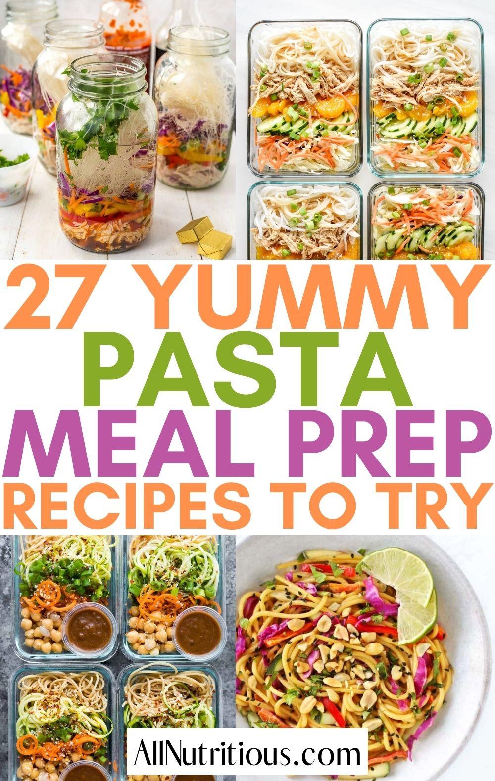 pasta meal prep ideas