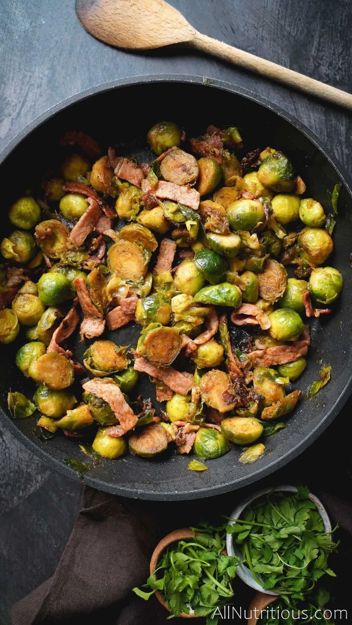 Brussels Sprouts with Bacon & Dates