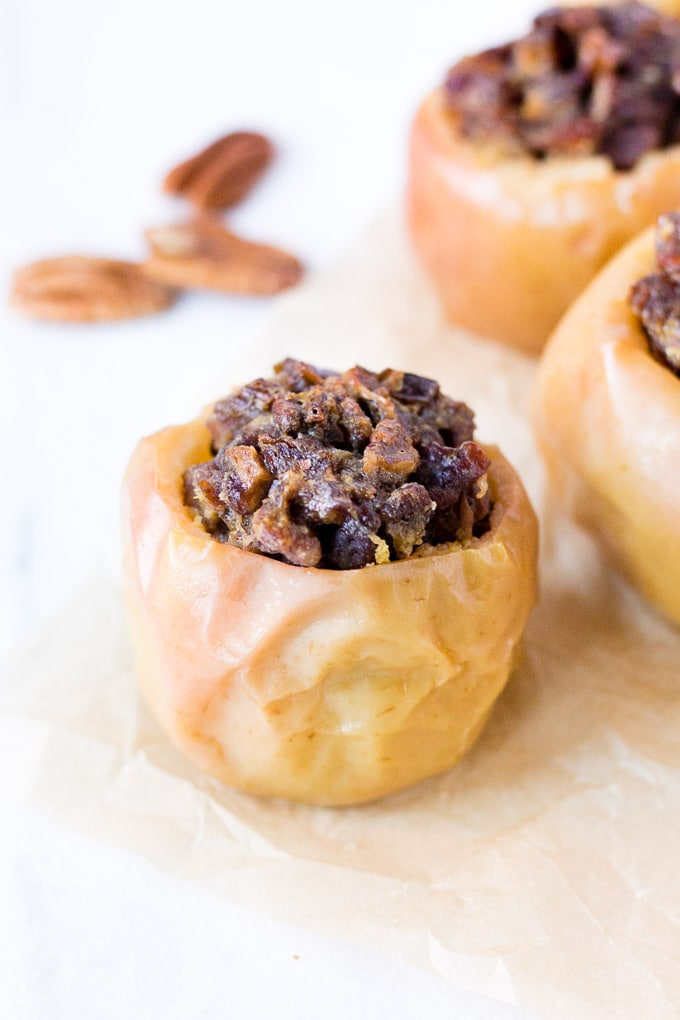 Baked Apples with Ginger, Dates & Pecans