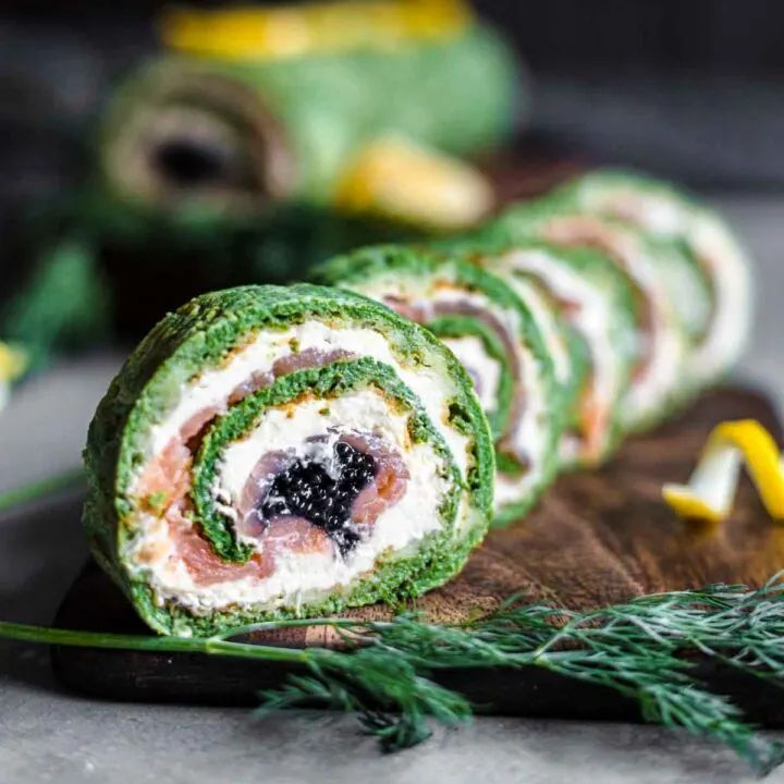 Keto Spinach Salmon Roulade