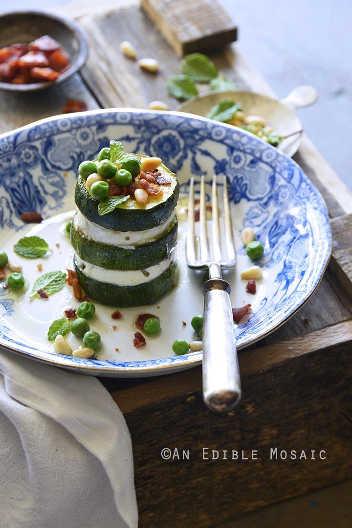 Zucchini Stacks with Goat Cheese