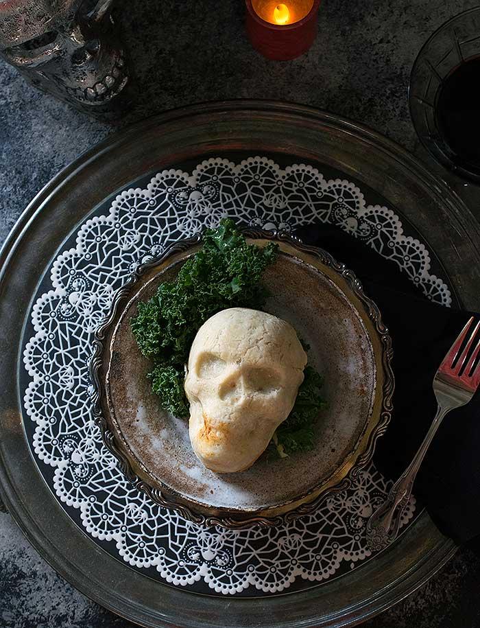 Spooky Skull Vegan Pot Pies