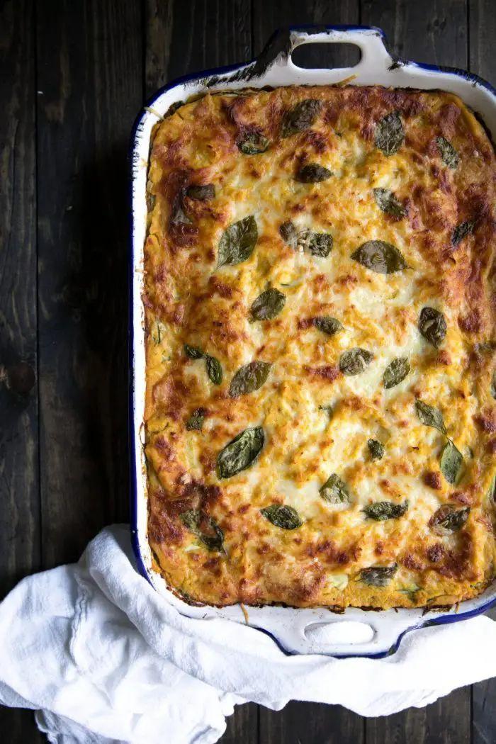 Butternut Squash Zucchini Spinach Lasagna