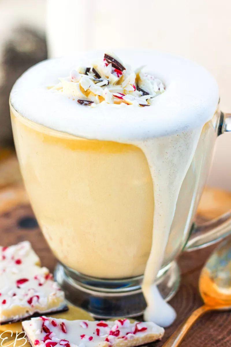 Keto Peppermint White Hot Chocolate
