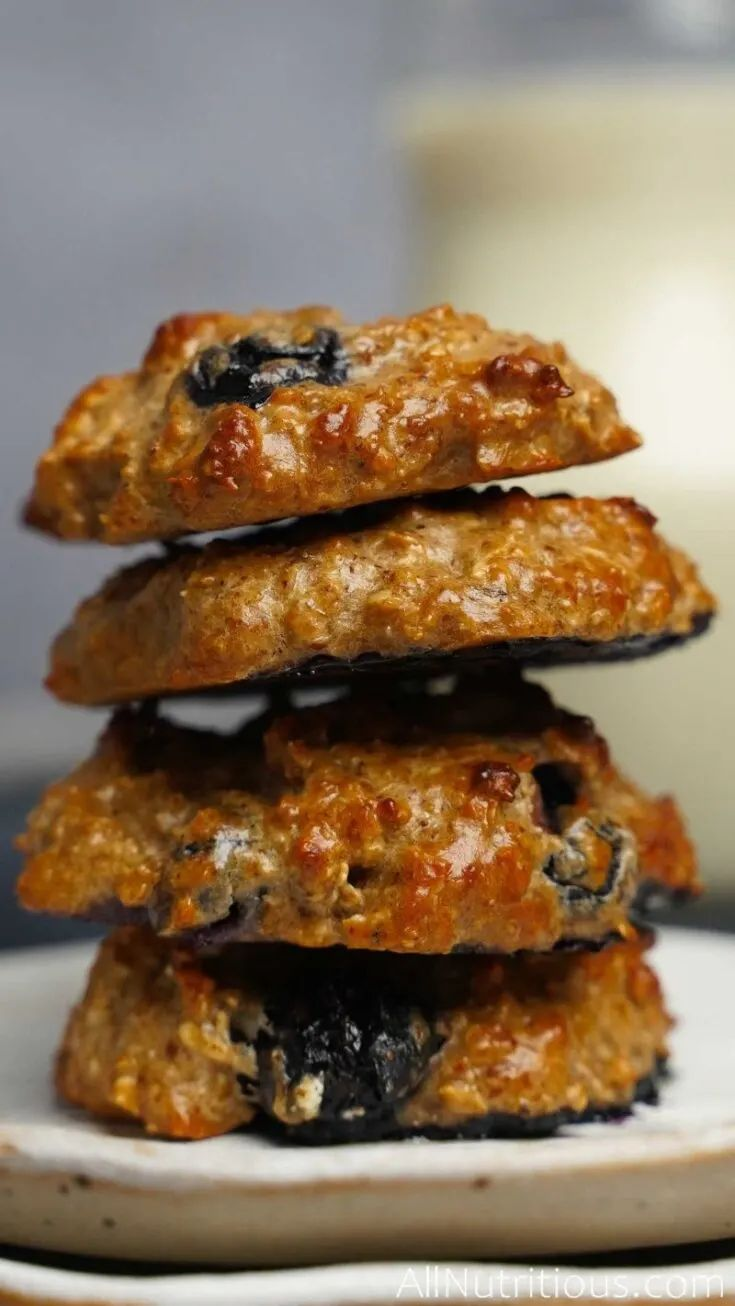 Oatmeal Protein Cookies with Blueberries