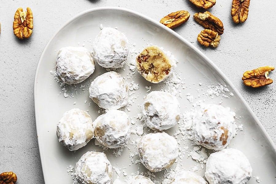 Keto Snowball Christmas Cookies