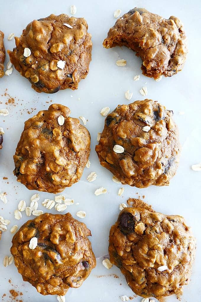 Oatmeal Raisin Sweet Potato Cookies