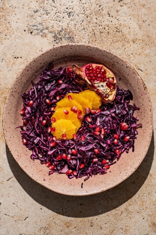 Red Cabbage Orange Salad