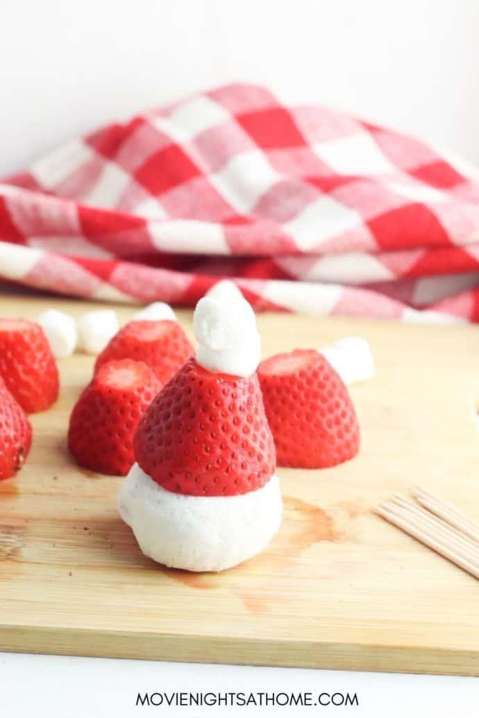 Strawberry Santa Claus Hats