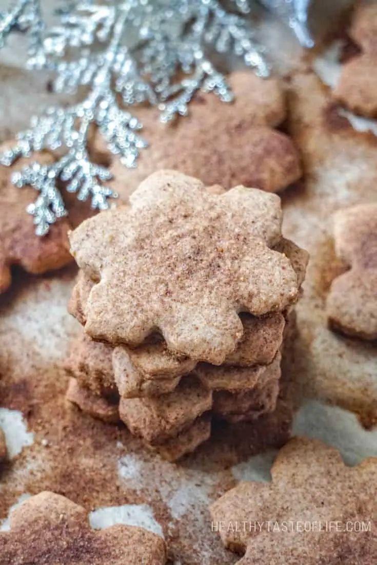 Gluten-Free Vegan Sugar Cookies with Walnuts and Cinnamon