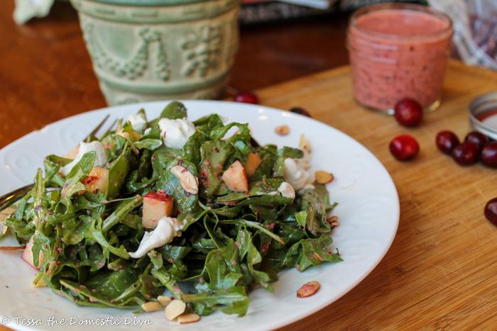 Greens Salad with Cranberry Vinaigrette