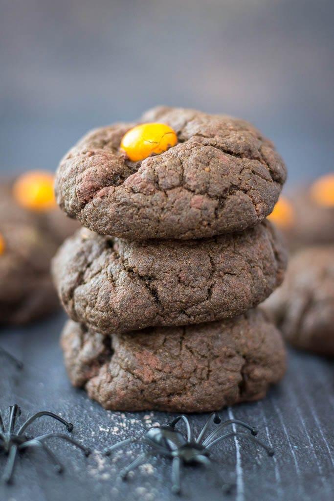 Halloween Dark Chocolate Cookies