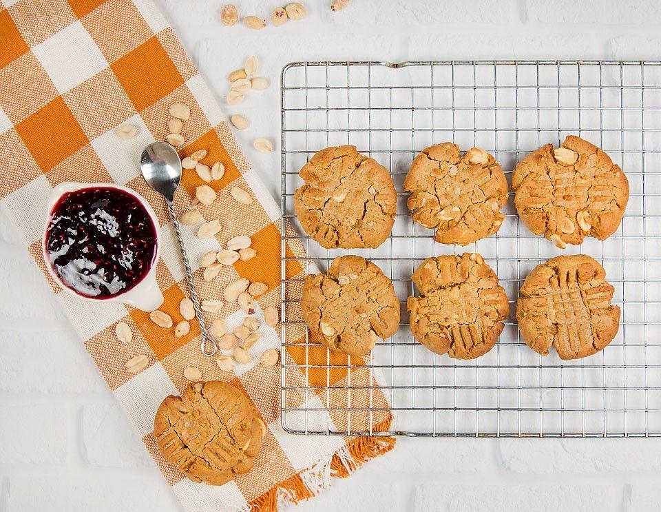 Gluten-Free Peanut Butter & Jam Cookies