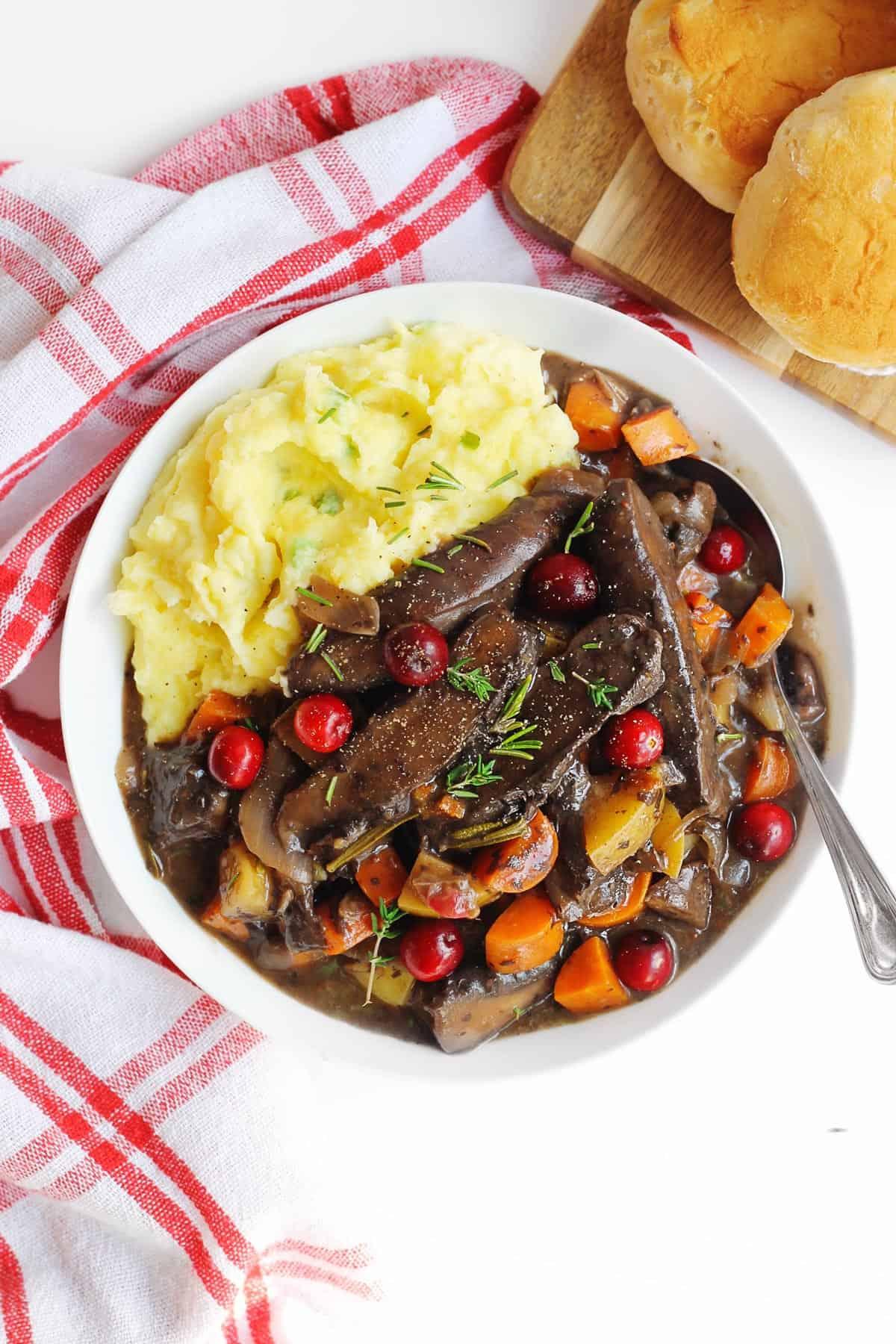 Vegan Cranberry Portobello Pot Roast