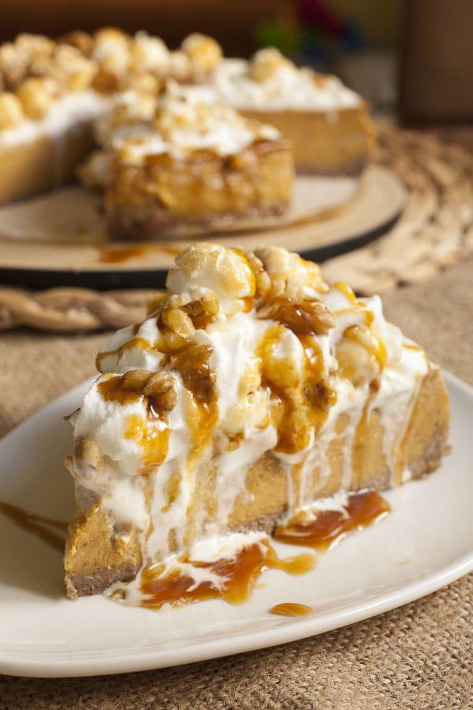 Baked Vegan Pumpkin Cheesecake