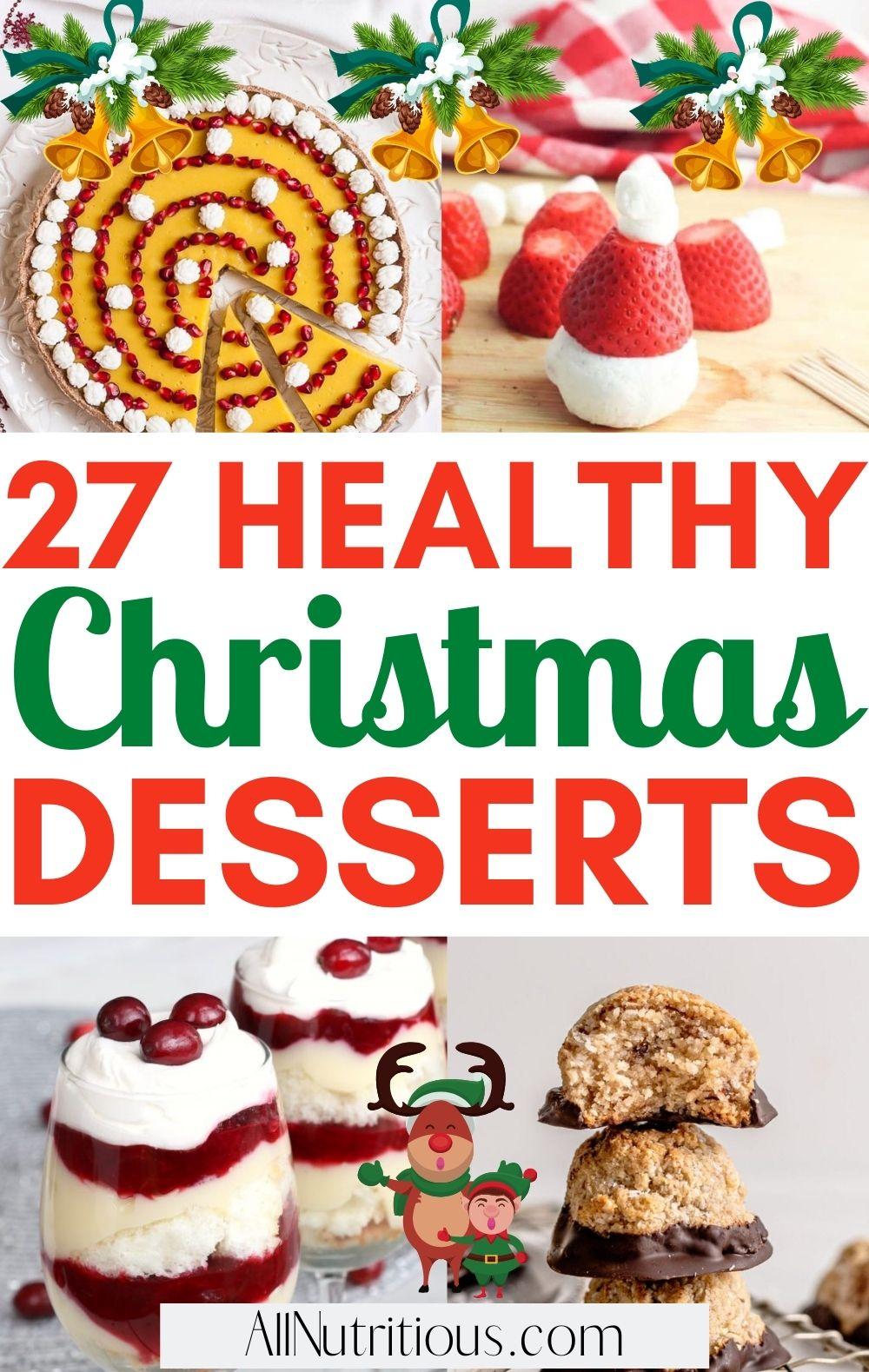 healthy christmas desserts